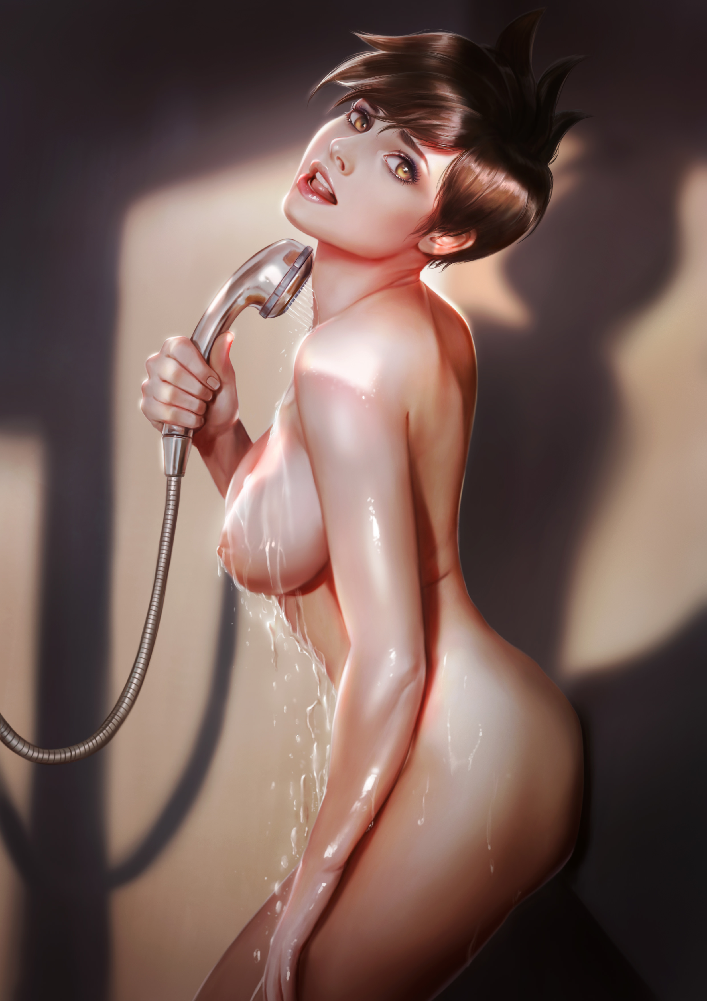Mercy getting fucked in the shower Mercy Overwatch Shower Hot Porn Site Image