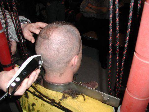 Bondage cut hair