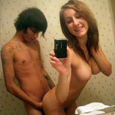 Amateurs having sex selfies