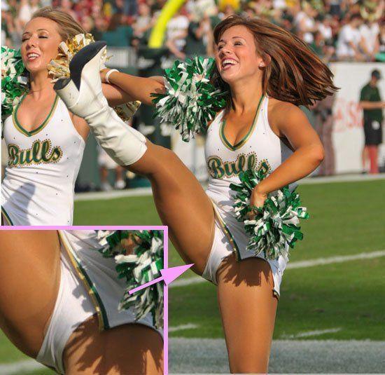 College cheerleader upskirts