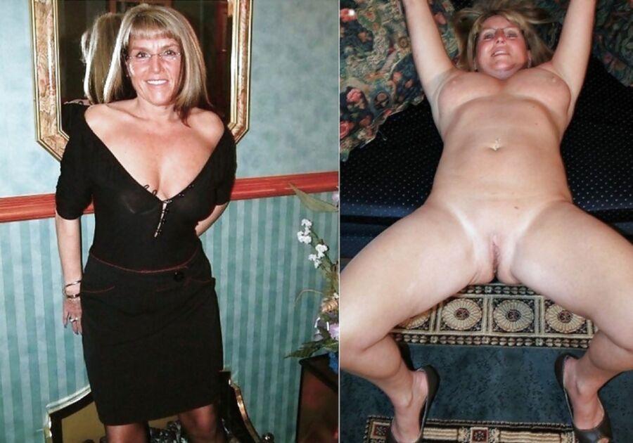 Selfie dressed undressed