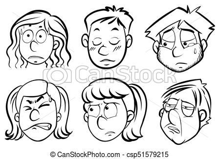 best of Showing emotions different drawings facial Free